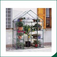 China Agricultural Plastic Hot Houses Foldable Greenhouse With Film Or Plastic Sheet 6x8x6.6 Plant Growth Powder coated wholesale