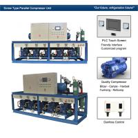 China Cattle Meat Cooling Bitzer Condensing Units Parallel Compressor Racks wholesale