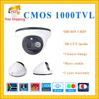 China DIS CHIP 1000TVL CMOS camera with IR-CUT weatherproof Dome security Camera array LED indoor outdoor CCTV Camera wholesale