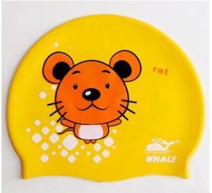 China Durable High Elastic Silicone Swimming Caps Kids Swim Cap That Keep Hair Dry wholesale