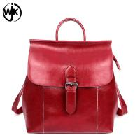 China Soft Cowhide Leather backpack vintage China factory handmade bags high quality genuine leather women backpack bag wholesale