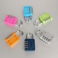 Quality 4 Digit Weatherproof Resettable Combination Padlock Multi Color For Travel for sale