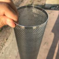 China Perforated Mesh Screen Filter Tube Cartridge / Cylindrical Metal Mesh Filter Screen wholesale