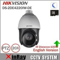 China Hikvision PTZ IP Camera DS-2DE4220IW-DE With IR Range 100m 4.7-94mm Lens 2mp Speed Dome Camera Support Onvif CCTV Camera on sale