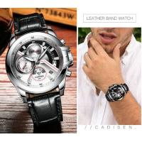 Quality CADISEN Men 3 Dial  Multifunction 1/10 Chronograph Quartz Wrist Watches  C9016 for sale