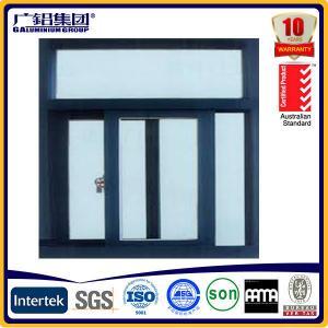 China powder coated aluminium sliding window with screens on sale