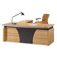 Quality Knock Down Packed Melamine Office Furniture Desk With Mobile Pedestal for sale
