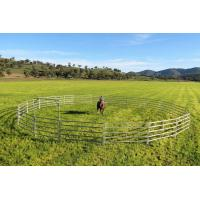 China 26 Portable Horse Stall Panels Inc Gate, Round Yard, Cattle Fences, Corral 18m Diameter wholesale