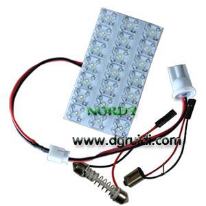 China Led Reading Light Led dome led  interior  bulb led 21pcs 0.5W high power LED 6W car top FLUX lighting wholesale