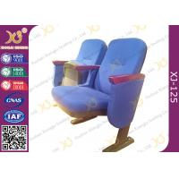 China Commercial Level Church Auditorium Seating Floor Fixed Low Back Church Chair on sale
