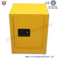 China Stainless Steel Iron Coated Flammable Yellow Powder  Chemical Storage Cabinets For Laboratory  /  Bench Top wholesale