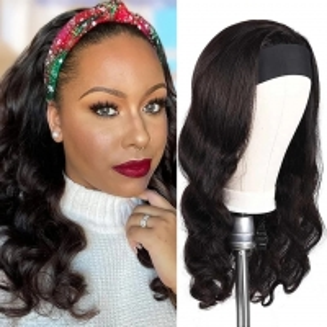 China OEM Silk Headband Wig Human Hair Body Wave Brazilian Wigs Human Hair on sale