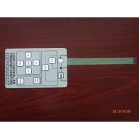 China Thin Film 3m Adhesive Single Membrane Switch , Embossed Membrane Key Switches on sale