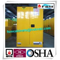 China Durable Metal Flammable Liquid Storage Containers 45 GAL With Double Layer wholesale