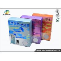 China Colorful Cosmetic Packaging Boxes Embossing Printing Handling For Skin Caring wholesale