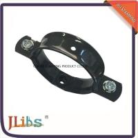 Wholesale Aluminum Steel Pipe Fasteners To Wall , Pipe Wall Bracket Black Painting from china suppliers