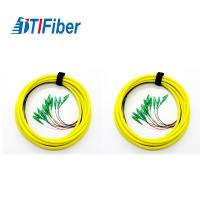 Buy cheap Singlemode Jumper Fiber Optic Pigtail Simplex LC SC FC ST Connector For Couples from wholesalers