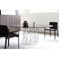 China Isamu Cyclone Modern Dining Room Tables Metal Base For Living Room Multi Colors wholesale