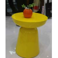 China Yellow Arcylic Round Metal Coffee Table Small Indoor Customizable SGS wholesale