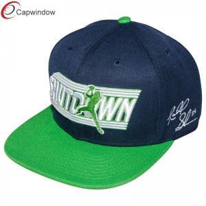 China Blue 100 Acrylic Twill Fabric Hip Hop Baseball Caps Custom Strapback Hats wholesale