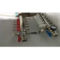 China Intelligent Temperture Control Floor Heating Manifold With Two Auto Drain Valve 5 Ways wholesale