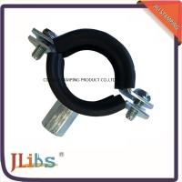 Wholesale Heavy / Light Pipe Pipe Strap Clamp Cast Iron Welding Type Clamps M8 + 10 With Rubber from china suppliers