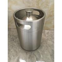 Buy cheap 2L Mini keg growler stainless steel food grade material Beer growler with tap from wholesalers