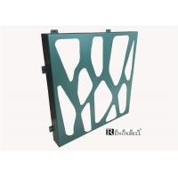 Turquoise Color Perforated Metal Sheet , Decorative Aluminum Sheeting