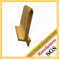 China Extruded copper alloy brass angle extrusion profiles for hardware wholesale