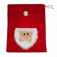 China Santa Bag, Made of 100% Polyester, Suitable for Christmas Decorations Purposes wholesale