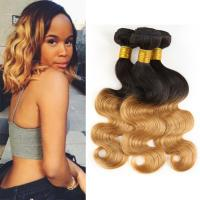1B / 30 Two Tone Ombre Human Hair Extensions Brazilian Loose Wave Hair Weave