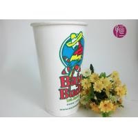 China 32oz Ice Drink Cold Paper Cups With Lid , Custom Double Walled Paper Cup 1000ml wholesale