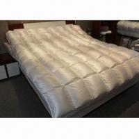 China Luxury down duvets with silk cotton blended cover and high filling power down stuffing on sale