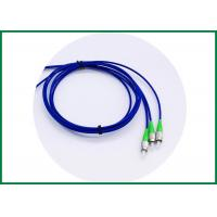 China Metal Strengthen Member Optical Fiber Patch Cord , Pigtail Armored Cable FC / APC Conntctor Type wholesale