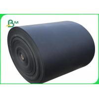 China 300 - 350 GSM One Side Coated Glossy Black Cardboard For Box Packing wholesale