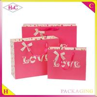 Buy cheap Red Love hand length handle paperboard wedding gift bag from wholesalers