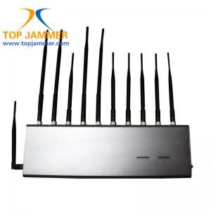 New 11 Antennas All in One RF Signal Jammer Blocker GSM 3G 4G LTE Wifi GPS Lojack UHF VHF