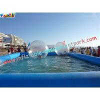China 0.9MM PVC tarpaulin Inflatable Swimming pool for water ball,bumper boat use POOL-06 wholesale
