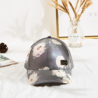 Buy cheap High quality curved brim 6 panel flower printing baseball cap custom metal logo from wholesalers