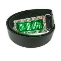 Scrolling message display led belt buckle