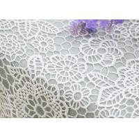 China Wedding Dresses Water Soluble Lace Fabric With Chemical Polyester Floral Lace wholesale