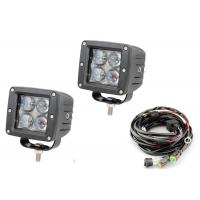 "China 4D 3"" Pods Vehicle LED Work Lights 12 Volt - 24 Volt 2 X 2 16W 6000k wholesale"