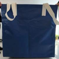 Square Waterproof Recycled Jumbo Bag Flat Bottom / Side Discharge Design 500kg - 1500kg