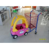 Quality Red Powder Coated childrens shopping cart travelator casters With Toy Car for sale