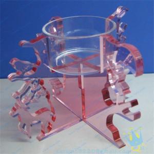 China CH (18) Acrylic tube candle holder wholesale