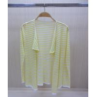 China Full Zip Up Design Womens Wool Sweaters with Long Striped Thin Knitwear Poncho wholesale