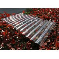 China Transparent Corrugated Polycarbonate Sheets For Roofing UV Resistant wholesale