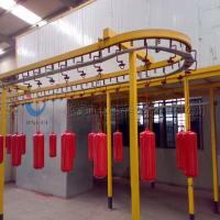 China Complete Powder Coating Line Powder Coating System For Fire Extinguisher on sale