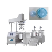 China Vacuum Homogenizer Cream Mixer 3500 R/Min 15KW 100L Cosmetics Vacuum Mixer Homogenizer wholesale