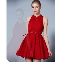 China Sexy Chiffon Red Short Cocktail Party Dresses for Women / Girls / Ladies wholesale
